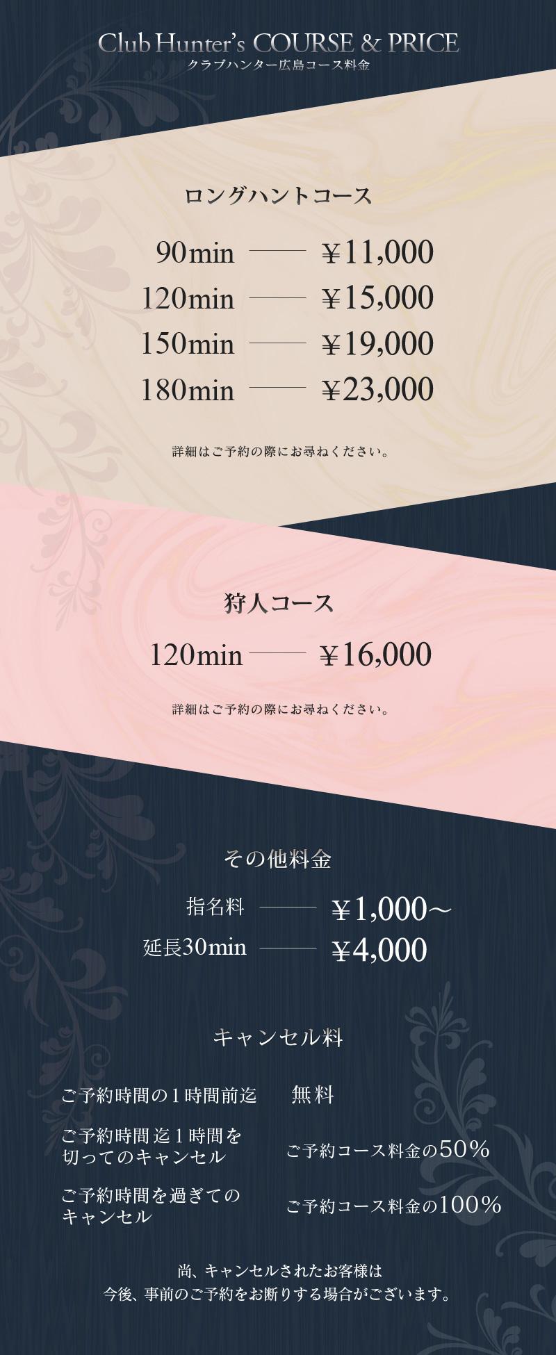 広島ハンターコース料金